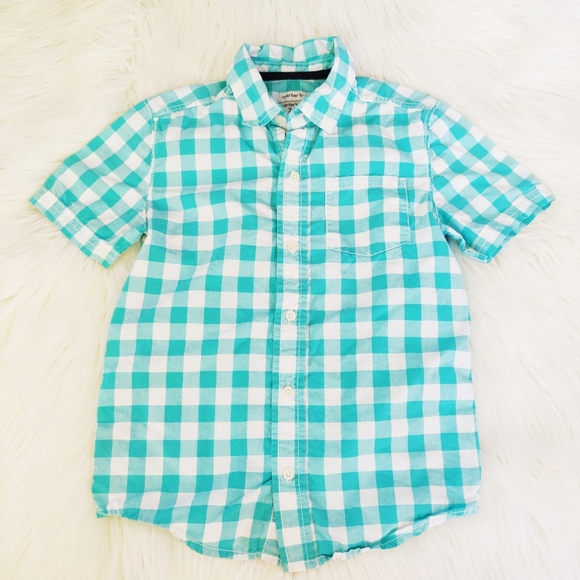 Carter's gingham plaid button down shirt